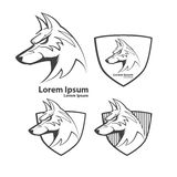 Dog. For logo, american football symbol, simple illustration, sport team emblem, design elements and labels, security idea Royalty Free Stock Image