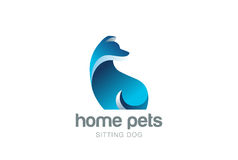 Dog Logo design vector. Home pets care veterinary Royalty Free Stock Images
