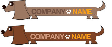 Dog logo. Sample,  illustration for your business Royalty Free Stock Photography