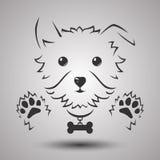 Dog logo. Dog silhouette logo in vector stock illustration