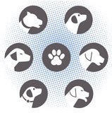 Dog logos Stock Photography
