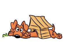 Dog long booth dachshund cartoon illustration Royalty Free Stock Image