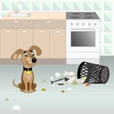 Dog looking for food Royalty Free Stock Photo