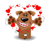 Dog in love Royalty Free Stock Image