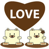 Dog in love Royalty Free Stock Photography