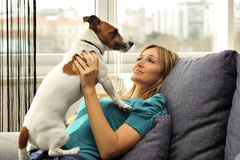 Dog lover Royalty Free Stock Photography