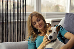 Dog lover Stock Images
