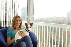 Dog lover Stock Image