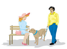 Dog lovers. At the park Royalty Free Stock Photos