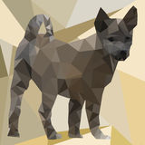 Dog Low Polygon Royalty Free Stock Photos