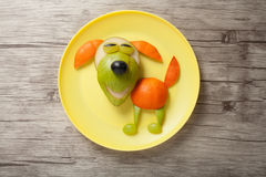 Dog made of juicy fruits Royalty Free Stock Image
