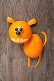 Dog made of orange Stock Photo