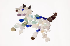 Dog Made Of Sea Glass Royalty Free Stock Photos