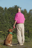 Dog and man friends Stock Photography