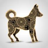 Dog mandala boho style. Vector illustration design Royalty Free Stock Photography