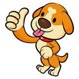 Dog Mascot the Left hand best gesture. Animal Character Design S Stock Photo