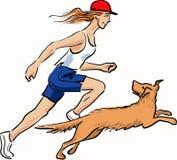 Dog&Master-2_BB Image stock