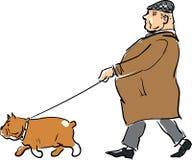 Dog&Master-1_BB Stock Images