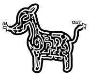 Dog maze Royalty Free Stock Photo
