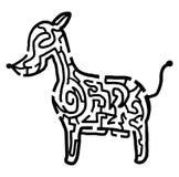 Dog maze Stock Photography