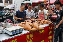 Dog meat market Royalty Free Stock Photo