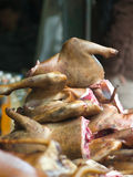 Dog meat for sale Royalty Free Stock Image
