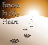 Dog Memorial - Forever In My Heart Stock Image