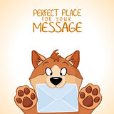 Dog message Royalty Free Stock Photos