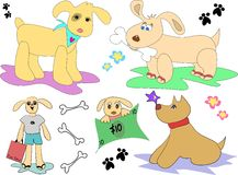 Dog Mix Page. This Canine page contains a variety of styles and characters Stock Photos