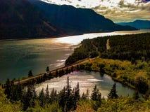 Dog Mountain Hiking Trail Columbia River Gorge Washington State stock photo
