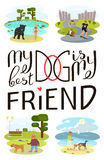 Dog is my best friend Royalty Free Stock Image