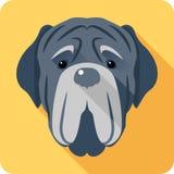 Dog Neapolitan Mastiff icon head flat design Royalty Free Stock Photos