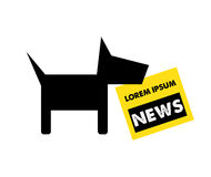 Dog and Newspaper Logo Concept Stock Image