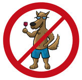 Dog no cartoon vector illustration Royalty Free Stock Images