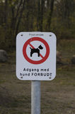 DOG NOT ALLOWED Royalty Free Stock Photography