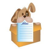 Dog with notepad page Royalty Free Stock Photography
