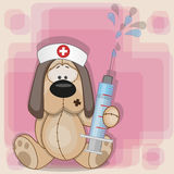 Dog nurse Royalty Free Stock Photo