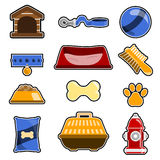 Dog object icon set Stock Images