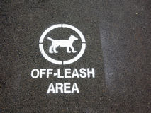 Dog Off Leash Area in Public Park Stock Photography
