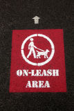 Dog on-leash sign Stock Photos