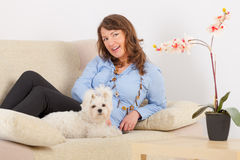 Dog and owner Royalty Free Stock Photo