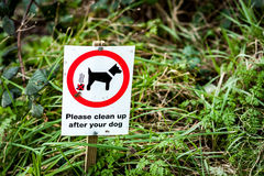 Dog owner request sign Royalty Free Stock Photos