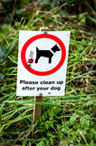 Dog owner request sign Royalty Free Stock Image