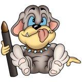 Dog painter 02 Royalty Free Stock Image