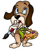 Dog Painter Royalty Free Stock Photos