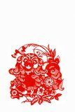Dog,  paper cutting Chinese Zodiac. These paper cutting show that Chinese Zodiac, such as rat, ox, tiger Stock Photography