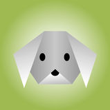 Dog from paper of origami Royalty Free Stock Photography