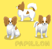 Dog Papillon Cartoon Vector Illustration Royalty Free Stock Images