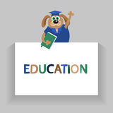 Dog or pappy.. Vector education background. Stock Photography