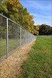 Newly created dog park with chain link fence